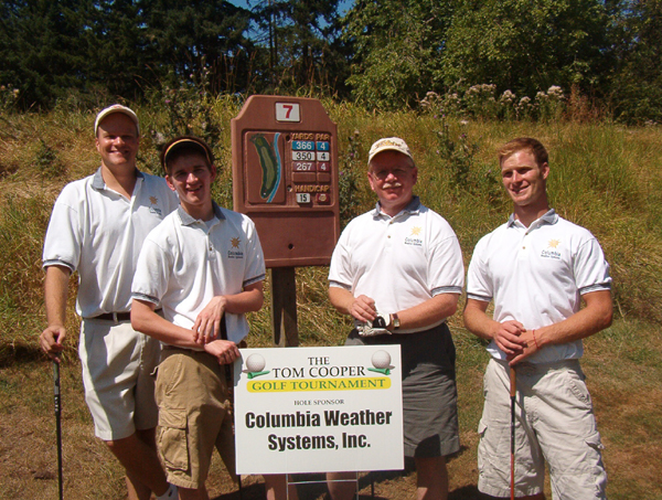 Columbia Weather Station Golf Team
