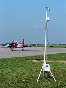 Aviation Weather Station with plane