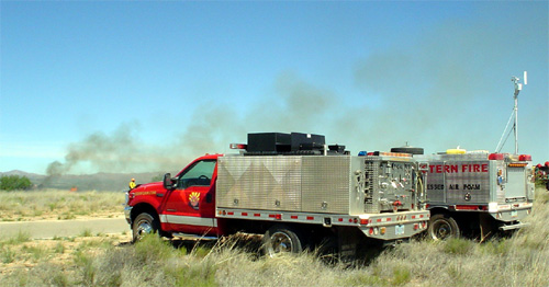 Wildland firefighting with mobile weather station
