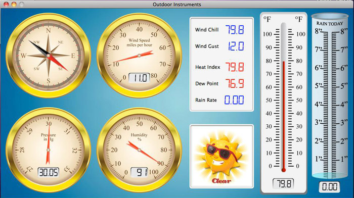 WeatherSnoop Software for Mac