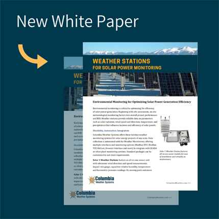 Environmental Monitoring for Optimizing Solar Power Generation Efficiency White Paper