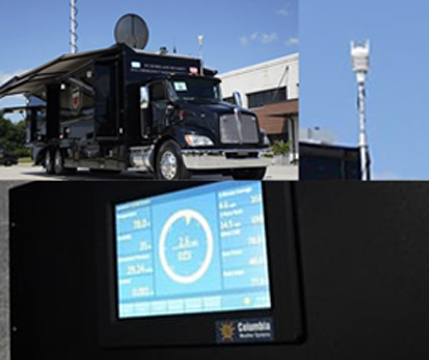 Mobile command center with Orion weather station